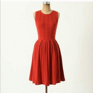 Anthropologie Far Away From Close 100% Wool Dress